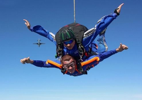 Прыжок с парашютом в тандеме от poletomania