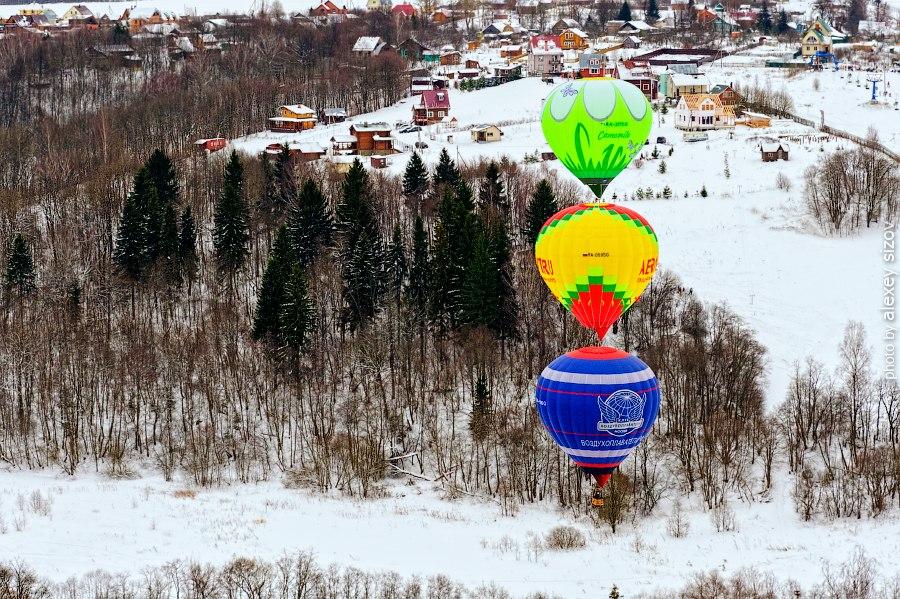 Полет на воздушном шаре (2 взрослых + 1 ребенок) от poletomania