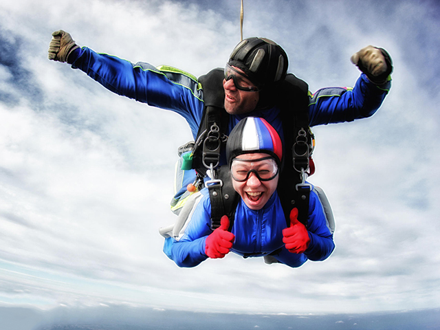 Прыжок с парашютом в тандеме для двоих от poletomania