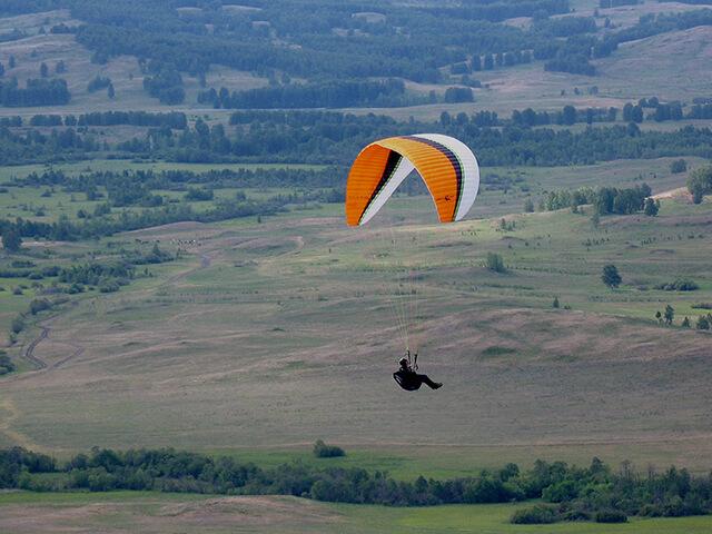Парный полет на параплане и парамоторе с видеосъемкой от poletomania