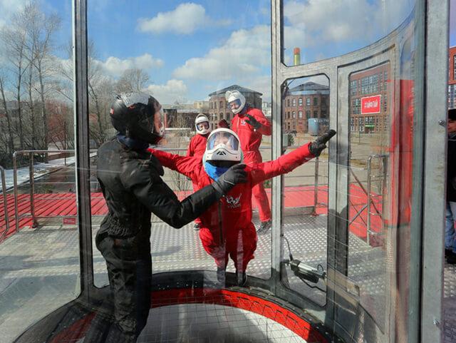 Полет в открытой аэротрубе «Ай-Флай» для двоих (12 мин.) от poletomania