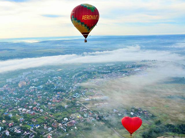 Полет на воздушном шаре (для пятерых) от poletomania